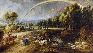 The Rainbow Landscape - Image: Peter Paul Rubens Landscape with a Rainbow WGA20411