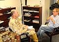 Peter Taylor interviews Joint Task Force (JTF) Guantanamo Commander Rear Adm. Jeffery Harbeson.jpg