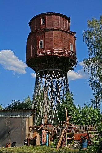 Petushki, Vladimir Oblast - Hyperboloid water tower by Vladimir Shukhov