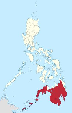 Location of Mindanao and Sulu