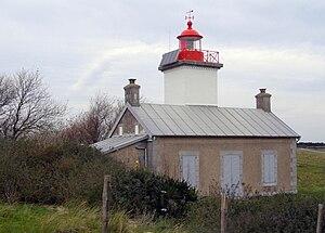 Le phare de la Pointe d'Agon, en 2010