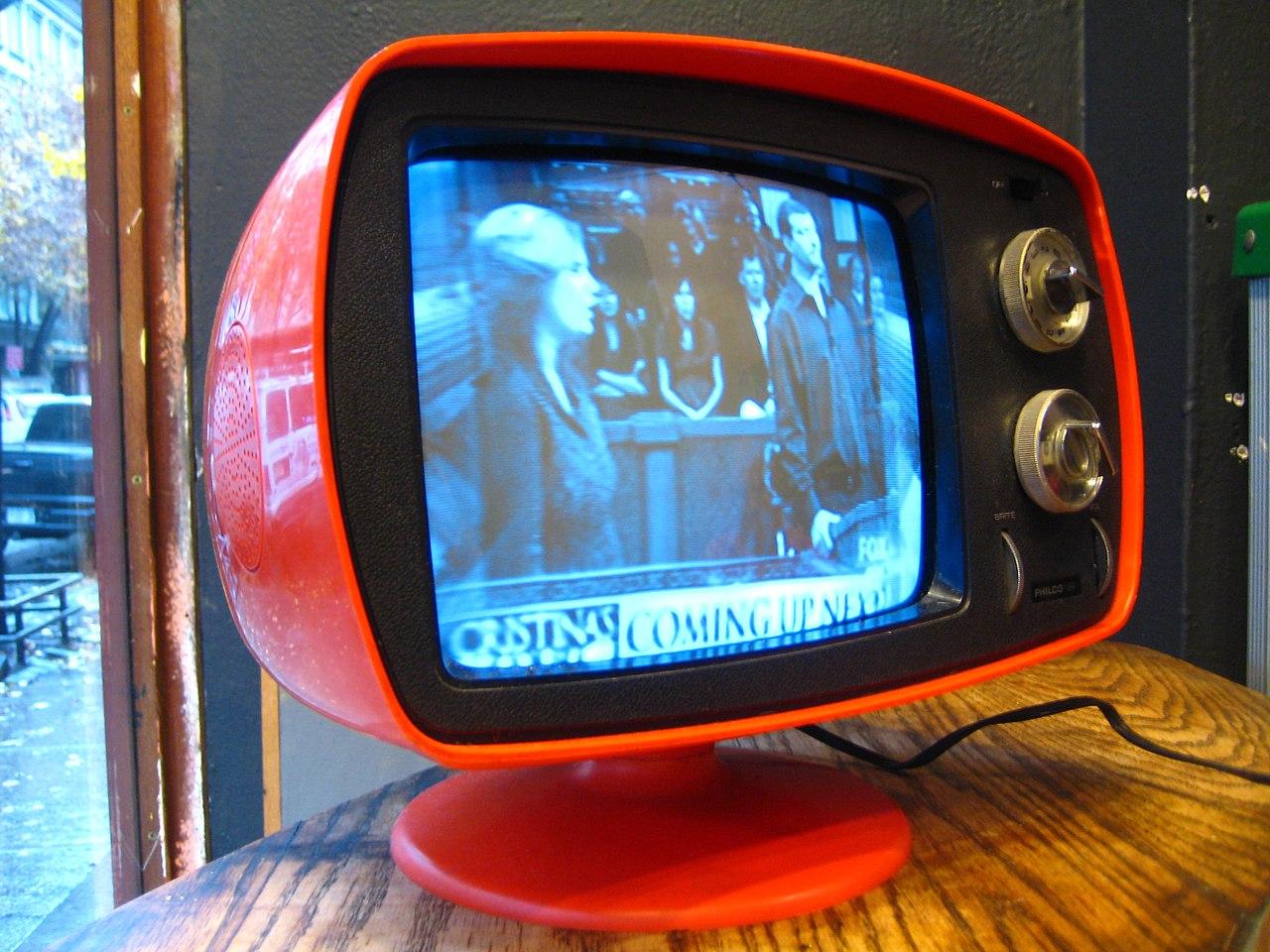 File:Philco-Ford Orange Retro TV (1970s).jpg