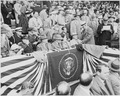 Photograph of President Truman, with Mrs. Truman and other dignitaries, at Griffith Stadium in Washington for the... - NARA - 200099.tif