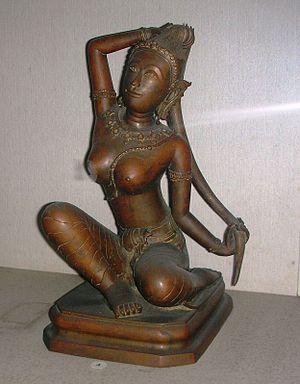 Phra Mae Thorani - Phra Mae Thorani bronze statuette. Bangkok National Museum