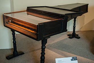 Piano - 1720 fortepiano by Italian maker Bartolomeo Cristofori, the world's oldest surviving piano. Metropolitan Museum of Art, New York City.