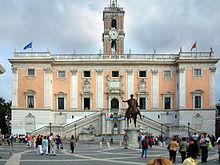 Piazza del Campidoglio, sede dell'assemblea e della giunta capitolina