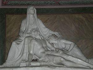 Cincinnato Baruzzi -  Modeled after Canova's design, this sculpture is found in the neoclassical S.S. Salvatore church in Terracina, Lazio.