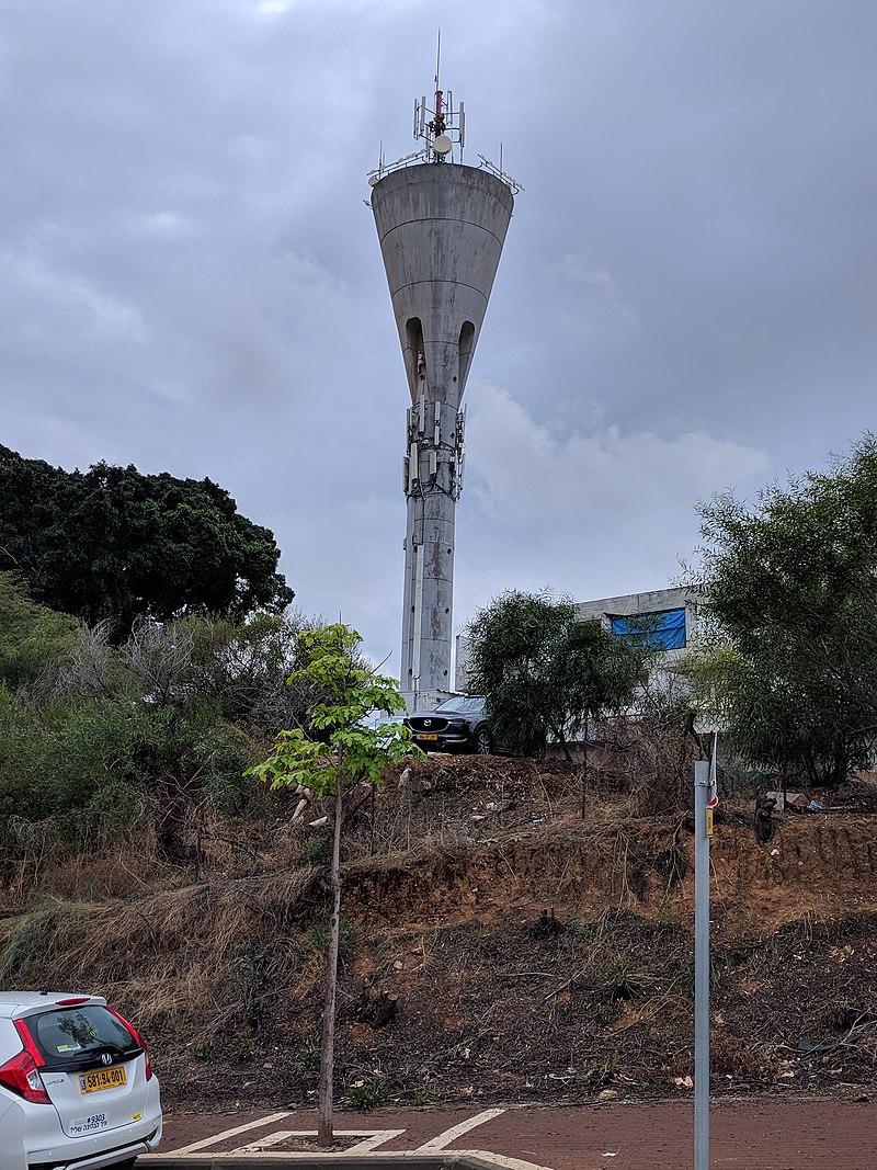 מגדל המים בבית החולים הרצפלד בגדרה