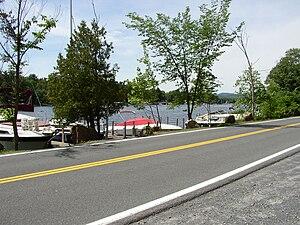 Kattskill Bay, New York - View of Warner Bay from Pilot Knob Road in Kattskill Bay