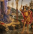 Pinturicchio (attr.), crocifissione tra i ss. cristoforo e girolamo, ante 1473, 02.jpg