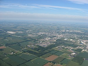 Piqua, Ohio - Aerial view of Piqua