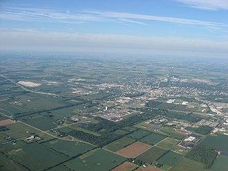 Piqua, Ohio - Aerial view of Piqua
