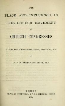 Place & Influence of Church Congresses.djvu