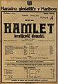Plakat za predstavo Hamlet kraljevič danski v Narodnem gledališču v Mariboru 28. maja 1925.jpg