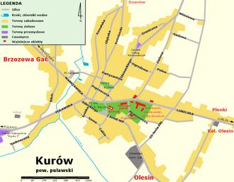 Kurów - Image: Plan Kurowa 2010