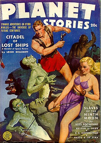 "Leigh Brackett - Brackett's novelette ""Citadel of Lost Ships"" was the cover story in the March 1943 issue of Planet Stories."