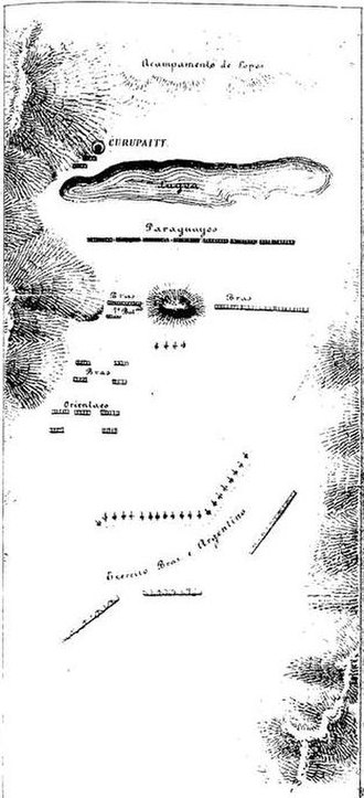 Battle of Estero Bellaco - positions of the belligerent forces on May 2 in Estero Bellaco.