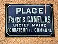 """Plaque """"place François-Canellas"""".JPG"""