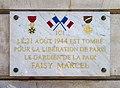 Plaque Faisy Marcel boulevard Malesherbes à Paris.JPG
