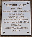 Plaque Michel Guy 156 rue de Rivoli.jpg