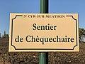 Plaque Sentier Chèquechaire - Saint-Cyr-sur-Menthon (FR01) - 2020-10-31 - 1.jpg