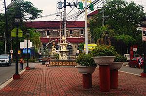 Pedro Gil Street - Plaza Felipe Calderon is located in the landscaped median just east of Tejeron Street in Santa Ana