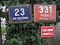 Podolí, Nad cementárnou 23, vila Františka Langera, tabulky.jpg