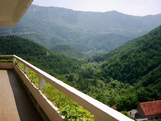 Pogled iz hotela Mir u Zvonackoj banji