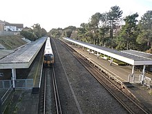 Pokesdown - Bournemouth-bound train at the station.jpg