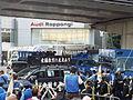 Police barrage in front of demonstration at Iikura Crossing 3.jpg