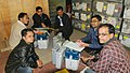 Polling officials collecting the Electronic Voting Machines (EVMs) and other necessary belongings for use in the Meghalaya Assembly Election, at Shillong on February 25, 2018 (2).jpg