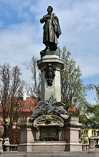 Adam Mickiewicz Monument, Warsaw sculpture by Cyprian Godebski