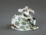 Porslin. Figurgrupp - kyss - Hallwylska museet - 89250.tif