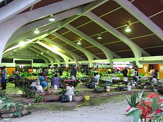 Vanuatu - A market hall in Port Vila