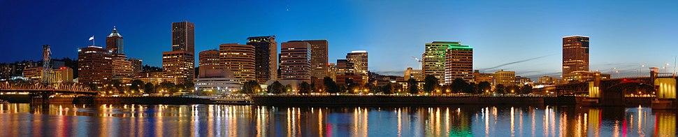 Portland Night panorama edit