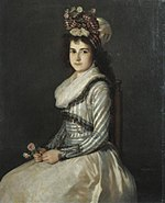 Portrait of a Young Woman Holding Two Roses by Agustín Esteve y Marqués.jpg