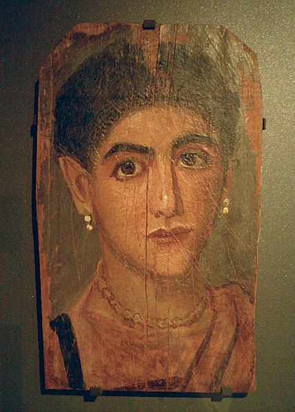 File:Portrait of a woman Second half of the 2nd century AD, perhaps from Thebes, Louvre Museum (10579550886).jpg
