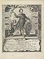 Portret van Frederik Hendrik, prins van Oranje Titelpagina voor Pieter Bor, Oorspronck (..) Ende andere geschiedenissen vanden Iare 1629, 1630, RP-P-1898-A-20712.jpg