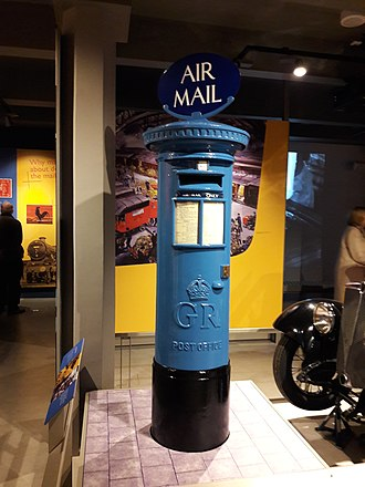 Postal Museum, London - An air mail postbox at the Postal Museum