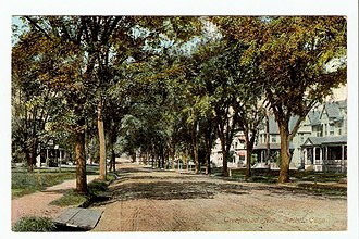 Bethel, Connecticut - Image: Postcard Greenwood Ave Bethel CT1909