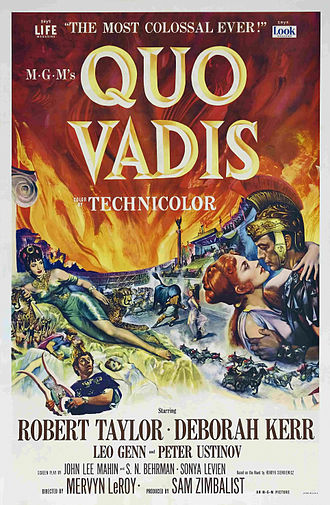 Quo Vadis (novel) - In 1951, Quo Vadis was adapted as a film by Mervyn LeRoy.