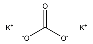 Potassium carbonate - Image: Potassium Carbonate 2D structure