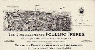 Poulenc Frères - Poulenc Frères letterhead 1913