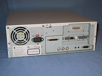 Power Macintosh 4400 - Rear view of the Power Macintosh 4400/200 and Power Macintosh 7220/200