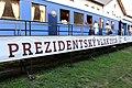 Praha, prezentace Prezidentského vlaku 2018, salonní vůz T. G. Masaryka, venkovní pohled (2).jpg