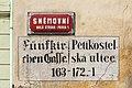 Praha Street Sign Fünfkirchengasse Pĕtikostelská ulice 163-172.-1.jpg