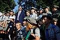Premier Mateusz Morawiecki z harcerzami podczas obchodów rocznicy Powstania Warszawskiego.jpg