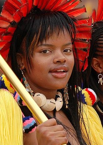 Succession to the Swazi throne - Sikhanyiso Dlamini at the 2006 Umhlanga