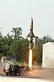 Prithvi-II Missile launched from Chandipur Range on October 08, 2013.jpg