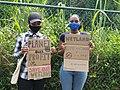 Protest against wetland devastation to build a hotel on Mahe, Seychelles 2.jpg